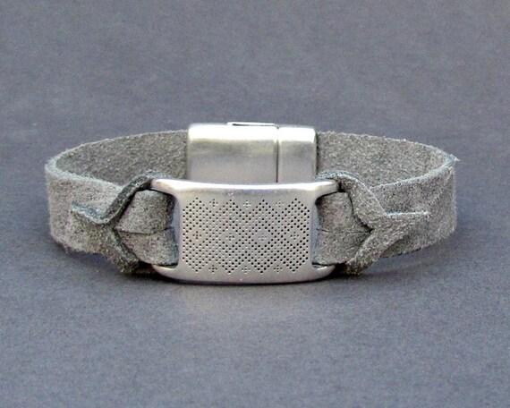 Gift For Men, Mens Bracelet Mens Leather bracelet Cuff Customized On Your Wrist