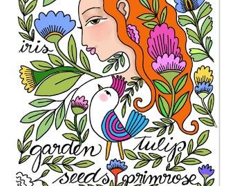 Printable Garden Fairy Coloring Page, coloring sheet