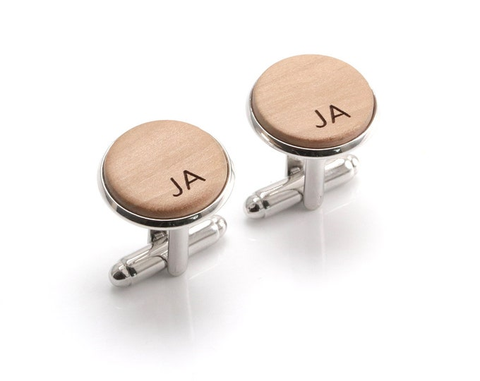 Sixth Anniversary, 6 Year Anniversary, 6th Anniversary Wood, Wooden Cufflinks, 6th anniversary gift, Anniversary Gift, Six Year Anniversary