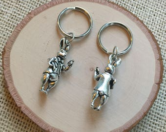 Rabbit (Bunny) Sterling Silver (plated) Keychain