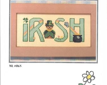"Clearance - ""Irish"" Counted Cross Stitch Chart by Nessy Lynn's"