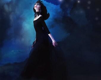 Queen of Midnight-fantasy art print, fairy tale art print, wall decor, home decor, girls room decor, fine art print, gift for her,  wall art
