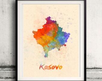 Kosovo map Etsy