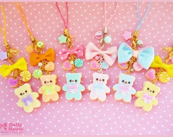 Kawaii strap - Pastel Cookie Bear -  by Dolly House