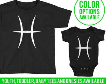 Pisces Baby Pisces Onesie Pisces One Piece Pisces Girl Pisces Boy Child Clothing Kids Clothing