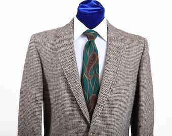 Vintage 60s-70s Men's Harris Tweed Check Sport Coat Jacket 41-42