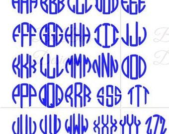 Block Monogram Font svg and studio compatible  file