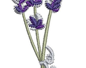 petite bouquet of lavender  Machine Embroidery Design