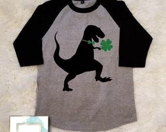 Dinosaur Shirt - St. Patrick's Day Shirt - St. Patty's Day Shirt - Shamrock