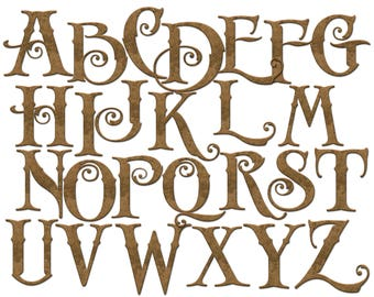 Old english alphabet | Etsy Old English Numbers Printable Free