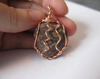 copper wire wrapped jasper necklace pendant wire wrapped necklace pendant copper wire wrapped pendant