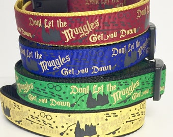 Harry Potter, Hogwarts , Wizard, Wizardry, Mischief Managed / Dog Collar / Gift for Dog