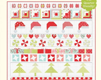 Christmas Cheer Quilt Pattern by Bonnie Olaveson for Cotton Way, Christmas Quilt Pattern