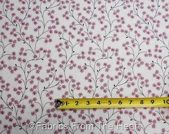 Meadowsweet Primrose Flowers Cream Vines BY YARDS Michael Miller Cotton Fabric