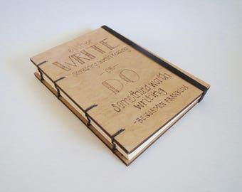 Wooden Journal | Wood Notebook | Wood Journal | Wooden Notebook | Quote Journal | Quote Notebook | Blank Journal | Blank Notebook Wood Book