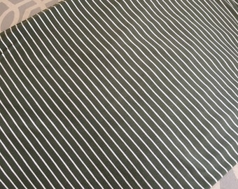 Olive Green Stripe Double Brushed Poly