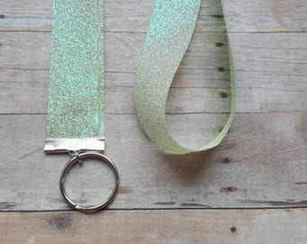 Sparkly Lanyard - ID badge holder, Nametag holder, Party favor, Gift, sparkly print, lanyard, preppy lanyard