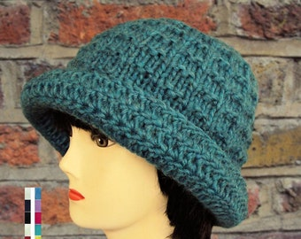 Knit Hat, Fedora, Crochet Hats, knitted Hats, Wool Hat with Brim, Gift for Women, Mothers Day, Gift for Mom, Gift for Her
