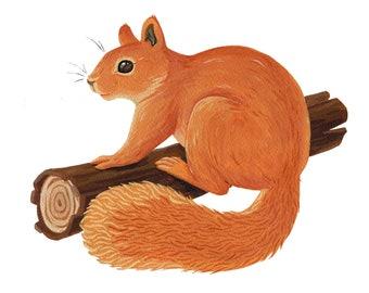 Original Fine Art Squirrel Painting Version 2