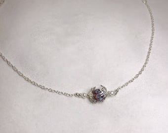 Dainty Floral | Silver Necklace