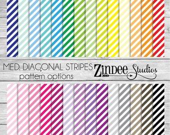Diagonal Stripes Medium Pattern Vinyl HEAT TRANSFER or ADHESIVE, printed vinyl printed HTv printed adhesive vinyl permanent