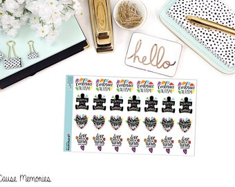 EMBRACE AUTISM QUOTES Paper Planner Stickers
