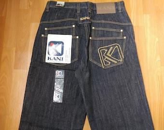 New KARL KANI jeans, old school deadstock baggy loose vintage blue, 1990s hip-hop, 90s hip hop clothing, gangsta rap size W 32 W 40 W 42 NWT