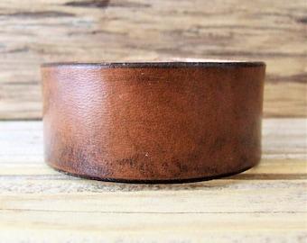 """Essential"" Brown Handmade Leather Bracelet"