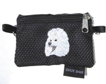 White Poodle Coin Purse