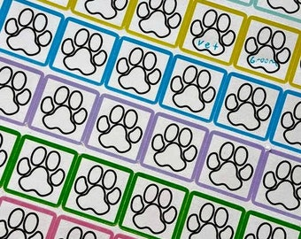 Paw Print Stickers for Planner