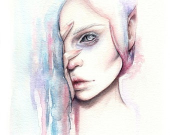 "Art Print ""Alv"" Elf Portrait"
