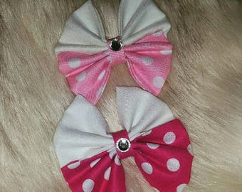Limited Edition Pretty in Pink and Hot Pink Polka Dot Minnie Mouse