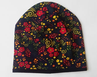 Adult's beanie / Slouchy beanie /  Colorful beanie / Adult's knit hat / Сotton hat / Rainbow beanie / Slouchy hat /  Women's beanie