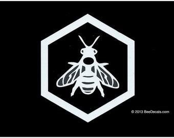 Beekeeper  Decal - Car Window Decal - Honey Bee Decal - Car Sticker - Beekeeper Bumper Sticker - We love bees