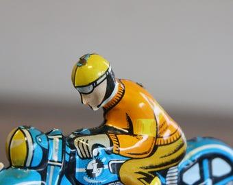Vintage tin toy motorcycle