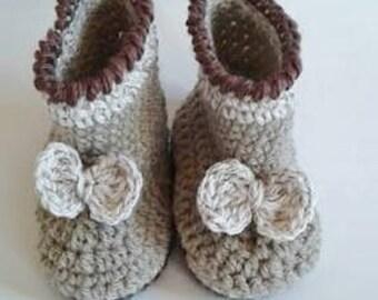 chaussons bébé au crochet taille 3/6 mois
