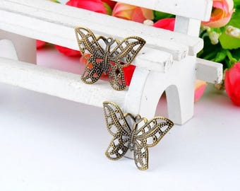 Butterfly antique sewing applique
