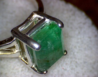 Beautiful Zambian Emerald Ring