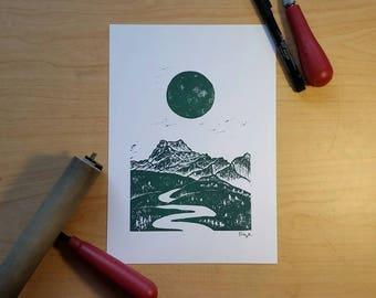Mountain Range Print