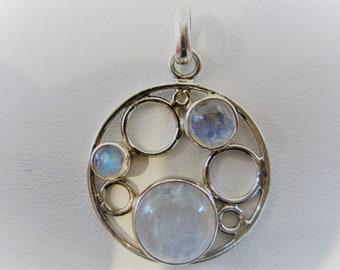 Sterling Silver Light Blue Chalcedony Quartz Pendant