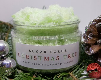 Christmas Tree Sugar Scrub - Christmas Scrub - Christmas Bath and Body