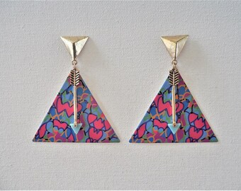 Abstract triangular arrow earrings