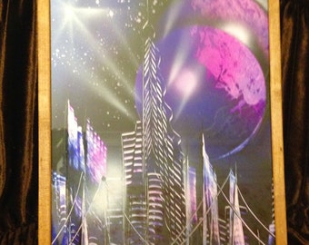 """Painting """" Night city."""""""