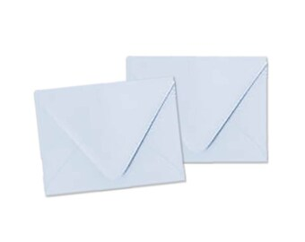 Bluebell / Baby Blue / Light Blue Envelopes - A2 Pointed Flap Envelopes - Set of 10