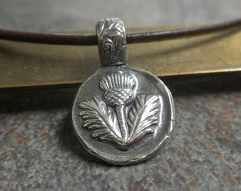 Outlander Jewelry Scottish Thistle Pendant Necklace