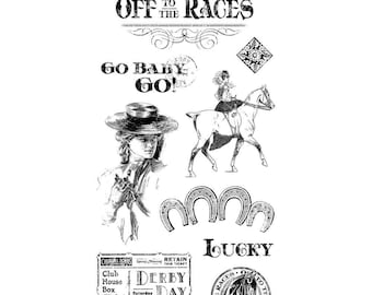 Graphic 45 Cling Stamps - Off To The Races 1
