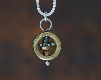 Spinning Camera Part Necklace
