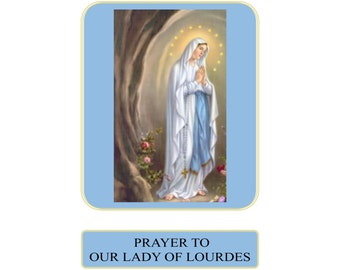Prayer to Our Lady of Lourdes Prayer Card