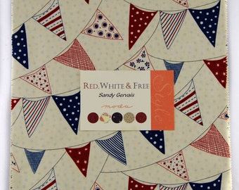 Today only! Sandy Gervais - Red, White And Free Layer Cake