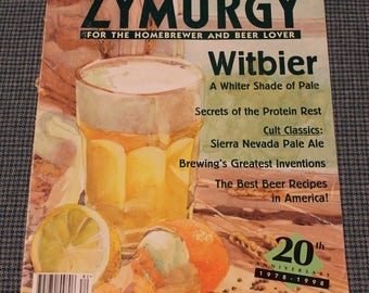 Homebrewer & Beer Lover ~ Zymurgy Magazine ~ 20th Anniversary Issue 1978 - 1998 ~Back Issue ~Best Beer Recipes ~ Home Made Beer~ Collectible